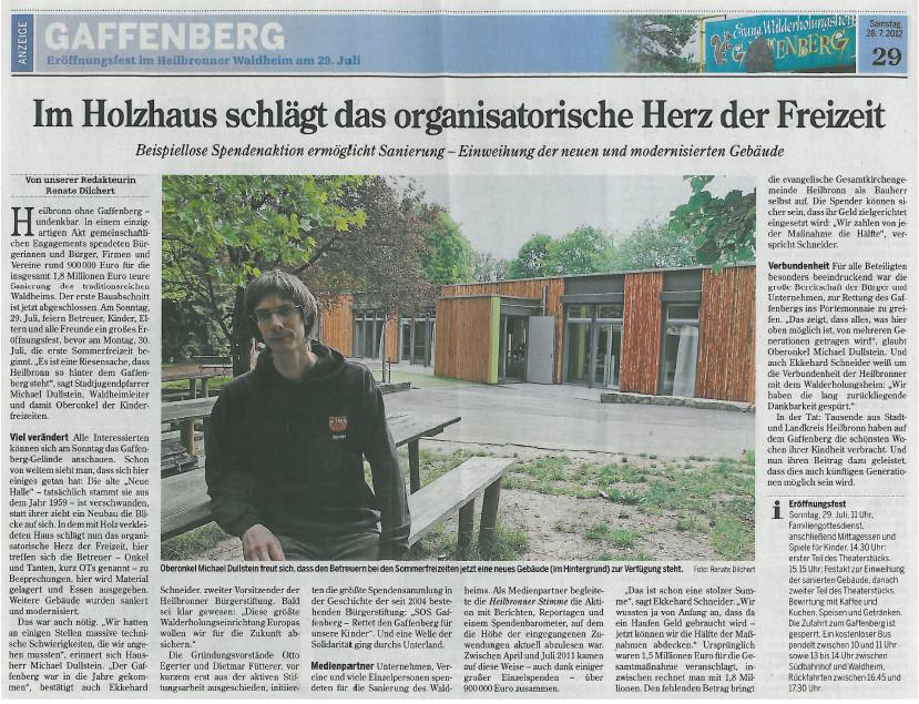 Grandi Joos – Im Holzhaus schlägt das organisatorische Herz der Freizeit (Gaffenberg)
