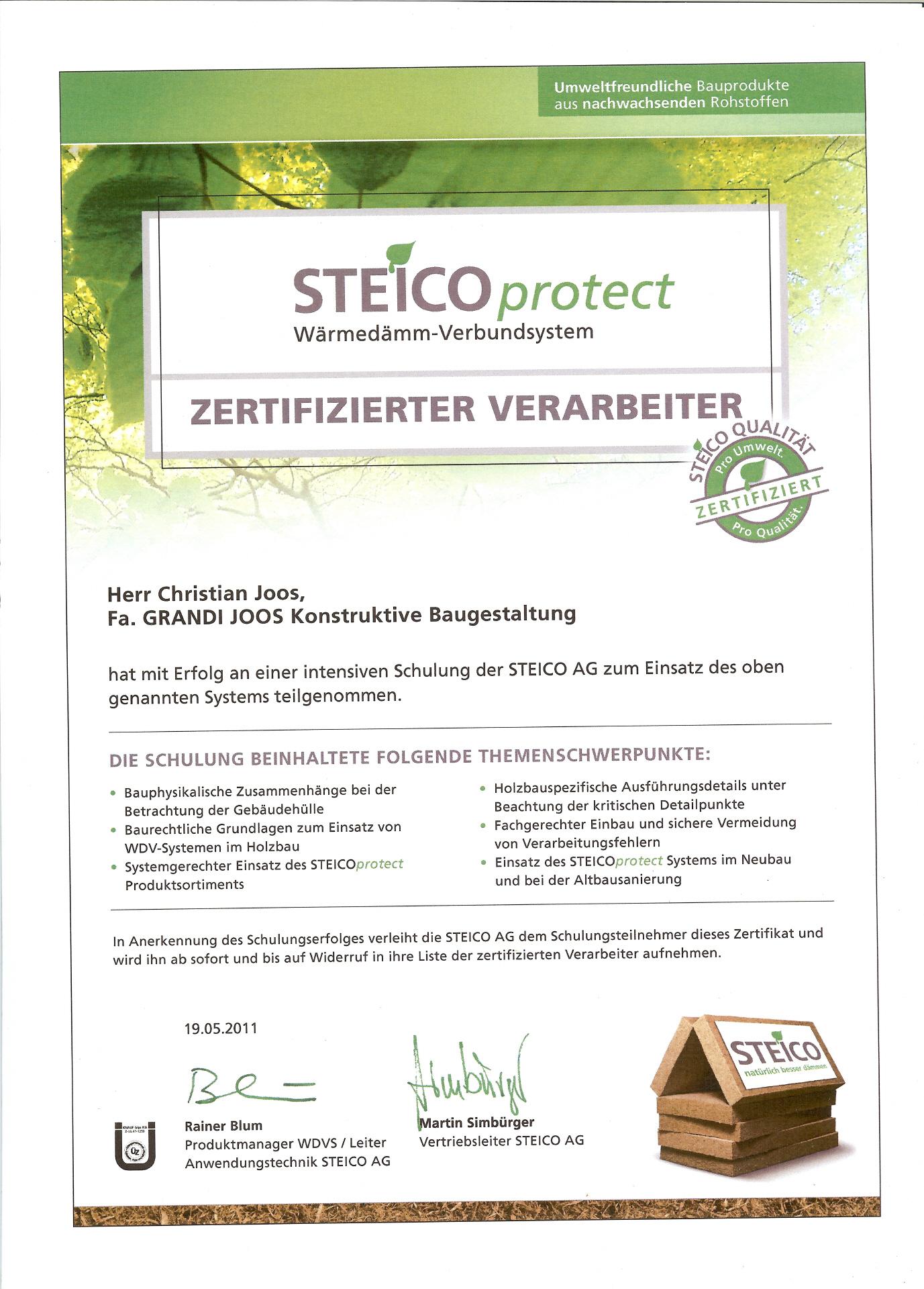 Wir sind zertifizierter STEICO-Partner